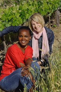 Alicia & Andiswa Sitting Vineyard_2